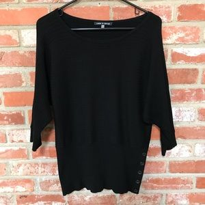 Cable & Gauge Black dolman sleeve sweater (105)
